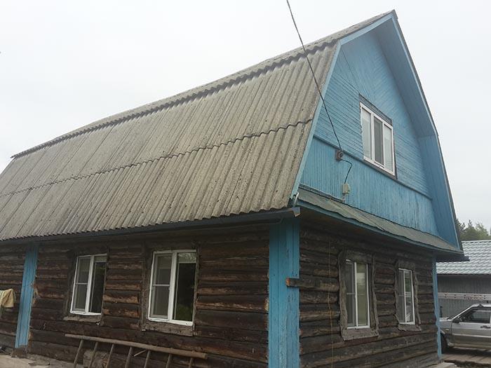 обшить бревенчатый дом сайдингом